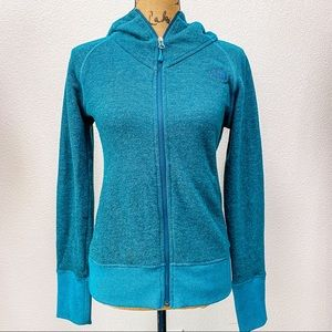 THE NORTH FACE blue hoodie track jacket